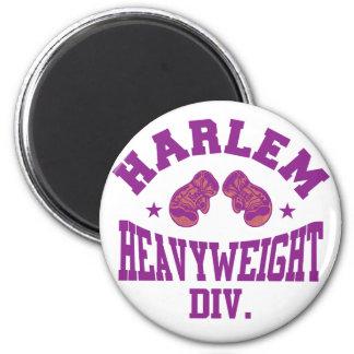 Harlem Heavyweight Purple 2 Inch Round Magnet