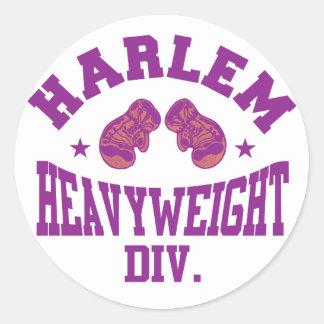 Harlem Heavyweight Purple Round Sticker