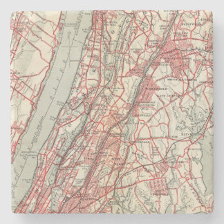 Harlem, Yonkers, Pelham Manor, New York Stone Beverage Coaster