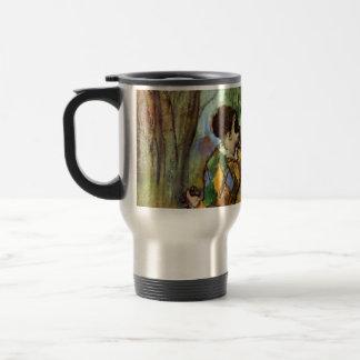 Harlequin and Columbine by Edgar Degas Travel Mug