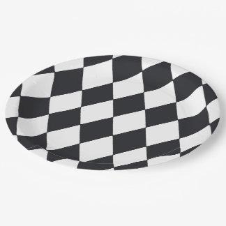 Harlequin Black Paper Plate