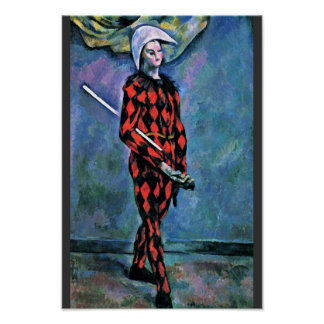 Harlequin By Paul Cézanne (Best Quality) Poster