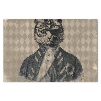 Harlequin Cat Grunge Tissue Paper