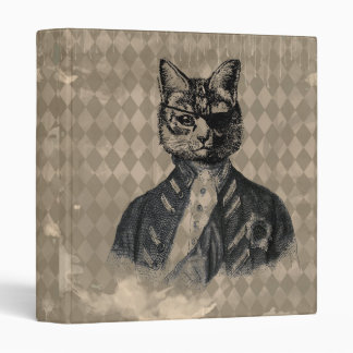 Harlequin Cat Grunge Vinyl Binder