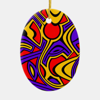 Harlequin Ceramic Ornament