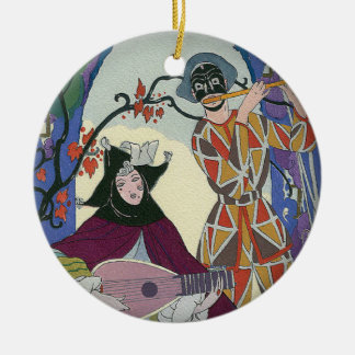 Harlequin Circle Ornament