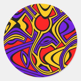 Harlequin Classic Round Sticker