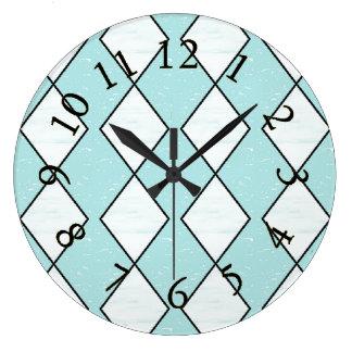 Harlequin_Classic-Turquoise(c)Multi-Choices Large Clock