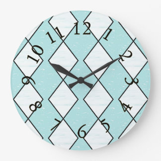 Harlequin_Classic-Turquoise(c)Multi-Choices Wall Clock
