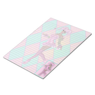 Harlequin Clown Fantasy Pastel Legal Notepad