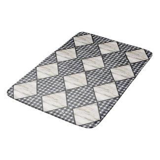 Harlequin-Cream-Wood-Diamonds-Black-Gingham Bath Mat