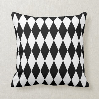 Harlequin Design Black and White Collection Throw Pillow