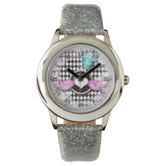 harlequin diamond heart roman numbers watch