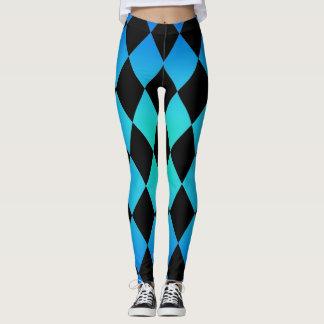 Harlequin ~ Diamond Pattern ~ Ocean Color Design~ Leggings