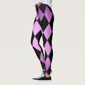 Harlequin ~ Diamond Pattern ~ Pink & Purple Design Leggings