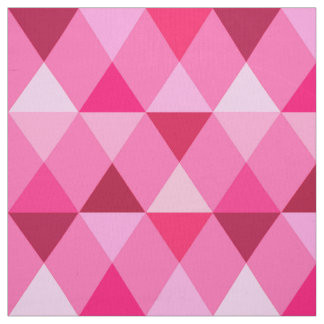 Harlequin / diamond pattern - Rose Pink & Wine Fabric