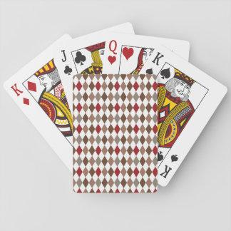 Harlequin Diamond Print Playing Cards