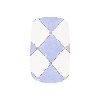 Harlequin Diamonds Lavendar White Nail Art