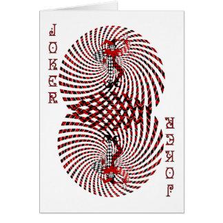 Harlequin Dizzy Blank Card