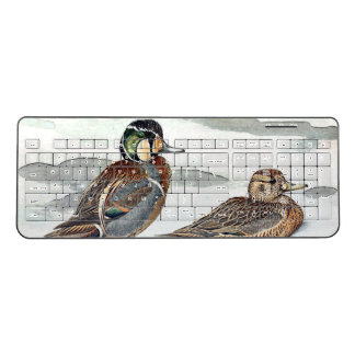Harlequin Duck Birds Wildlife Animal Pond Keyboard