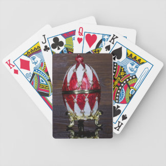 Harlequin egg bicycle playing cards