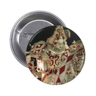 Harlequin float at carnaval in Rio 2 Inch Round Button