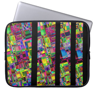 Harlequin geometric abstract laptop sleeve