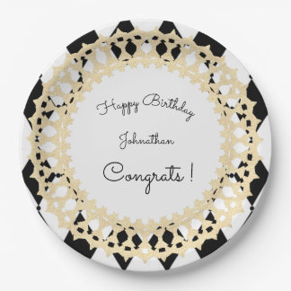 Harlequin-Gold_Celebration_Shield_Template 9 Inch Paper Plate