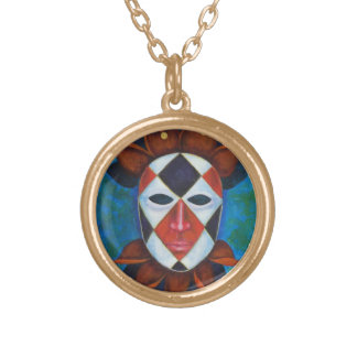 Harlequin Gold Plated Necklace