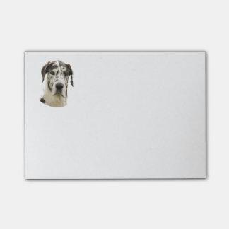 Harlequin Great Dane dog photo Post-it Notes