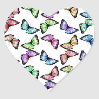 """Harlequin"" Heart Sticker"