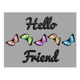 """Harlequin"" (Hello Friend) Postcard"