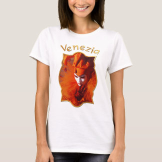 Harlequin in Orange at the Carnival of Venice T-Shirt