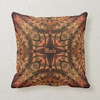 Harlequin Kaleidoscope Warm Tones Throw Pillow