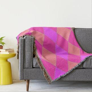 Harlequin_Lilac-Melon-Rose Throw Blanket