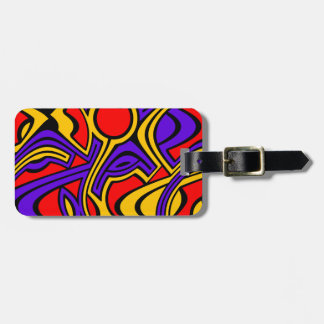 Harlequin Luggage Tag