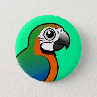 Harlequin Macaw 2 Inch Round Button