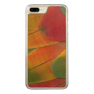 Harlequin Macaw parrot feathers Carved iPhone 8 Plus/7 Plus Case