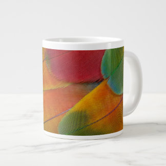 Harlequin Macaw parrot feathers Giant Coffee Mug