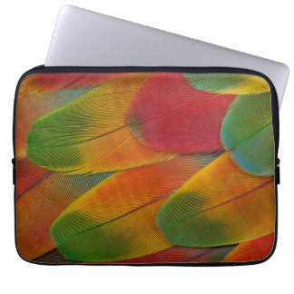 Harlequin Macaw parrot feathers Laptop Sleeve