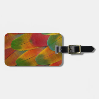 Harlequin Macaw parrot feathers Luggage Tag