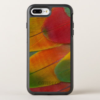Harlequin Macaw parrot feathers OtterBox Symmetry iPhone 7 Plus Case