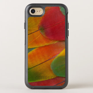 Harlequin Macaw parrot feathers OtterBox Symmetry iPhone 8/7 Case