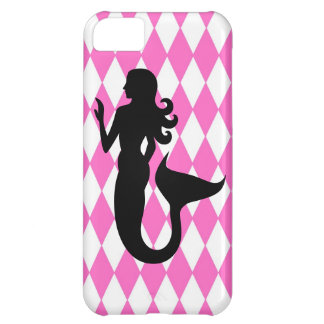 Harlequin Mermaid Silhouette Cover For iPhone 5C