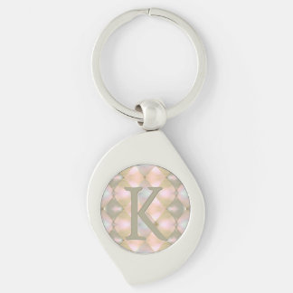 Harlequin Mother of Pearl (Monogrammed) Keychain
