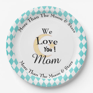 Harlequin-Mother's-Pearl-Celebrations-Monogram Paper Plate
