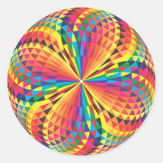 harlequin, optical illusion classic round sticker