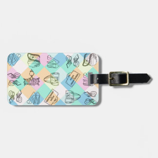 Harlequin Paris Shopping Luggage Tag