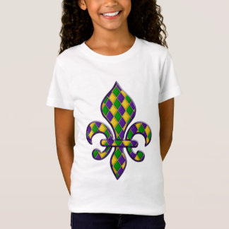 Harlequin Pattern Mardi Gras Fleur Design 1 T-Shirt