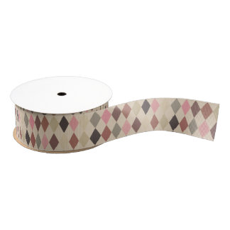 Harlequin Pattern Ribbon Grosgrain Ribbon